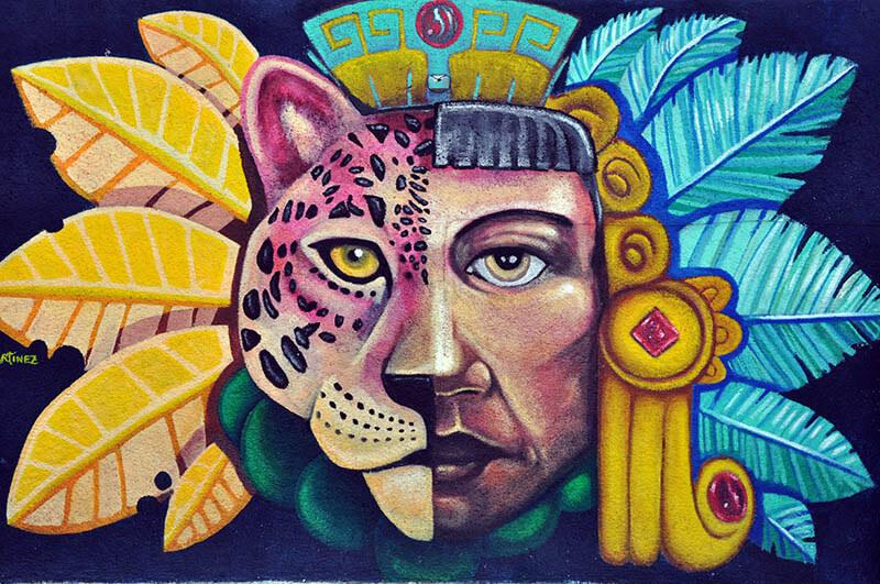 architektura Isla Mujeres - mural