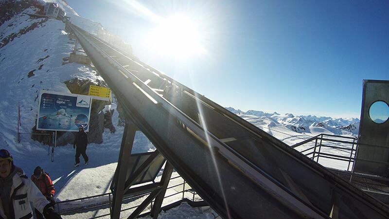 kaprun kitzsteinhorn - kolejka na szczyt
