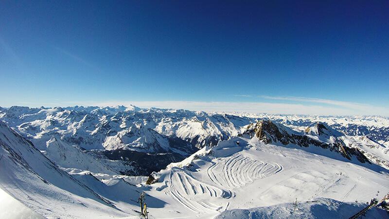 kaprun kitzsteinhorn-widok ze szczytu Austria