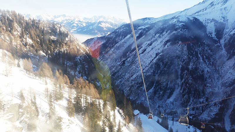 wjazd na lodowiec w Austrii
