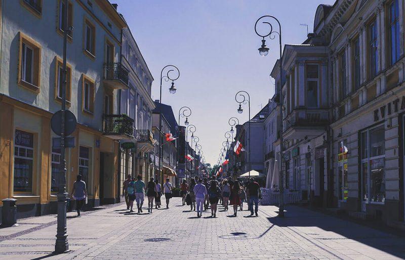 Ulica sienkiewicza miasto kielce