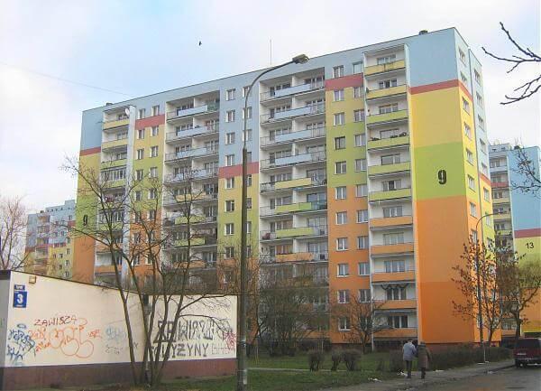 Bydgoszcz - kolorowe bloki
