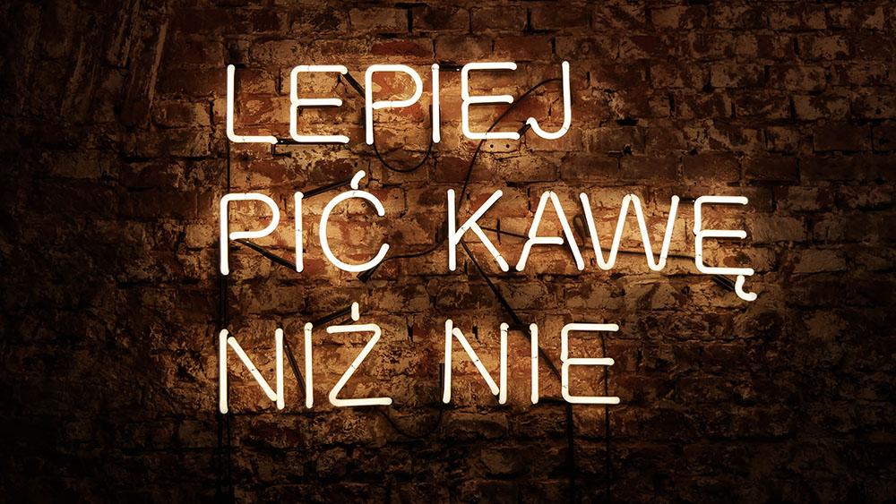 Wesoła cafe w Krakowie - neon