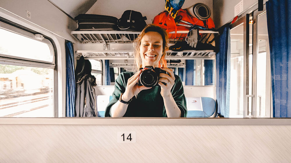 Bober w pociągu
