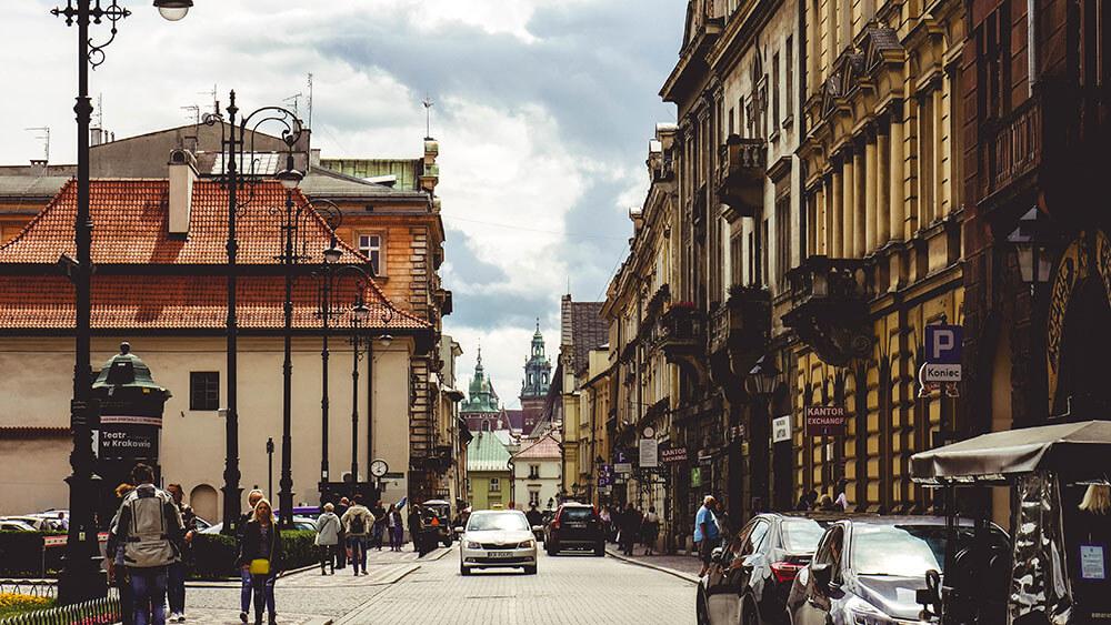 Ulica prowadząca do Rynku Głównego