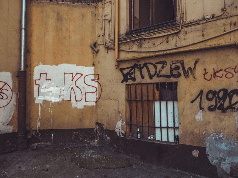 murale ŁKS i Widzew