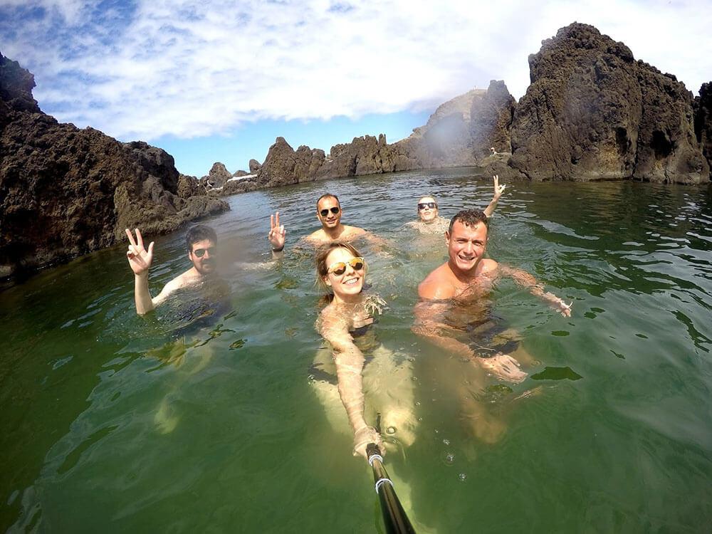 porto moniz - madera - kąpiel w naturalnych basenach