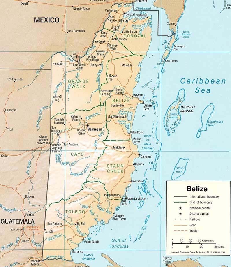 Belize-powierzchnia