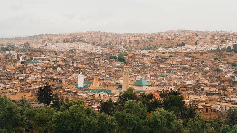 widok na Fez - Maroko