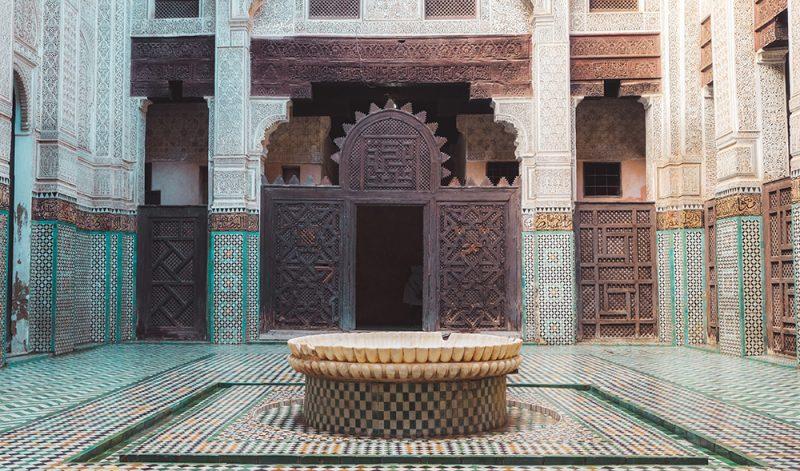 Medresa Bounania - maroko