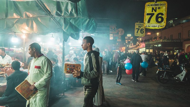 Plac Jemma El-Fna Marrakesh - Maroko