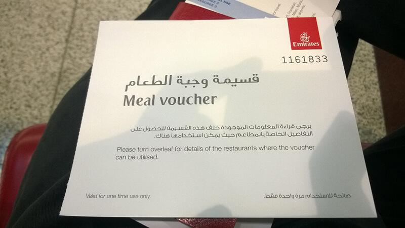 Darmowy voucher na jedzenie -Dubaj Emirates