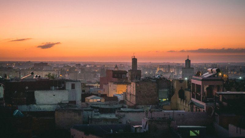 Meknes zachód słońca