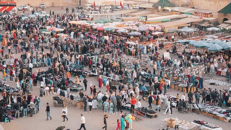 Plac el-Hadim (Lahdim) - główny plac w Meknes