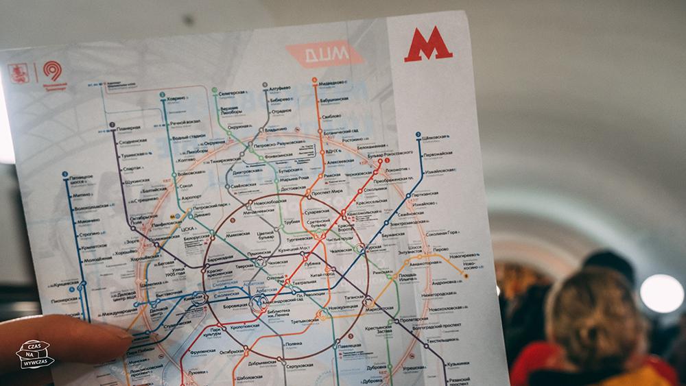 Mapa linii metra w Moskwie