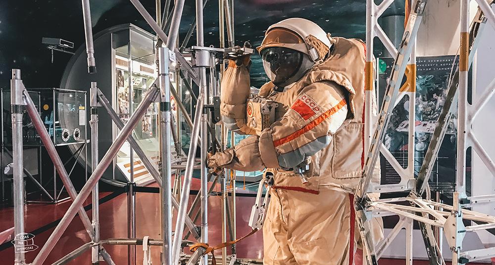muzeum Kosmosu w Moskwie - strój kosmonauty