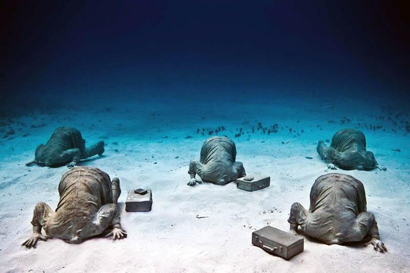 MUSA- podwodne muzeum w Meksyku - rzeźby