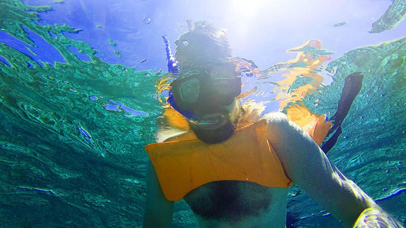 Artur pod wodą - Isla Mujeres snorkeling