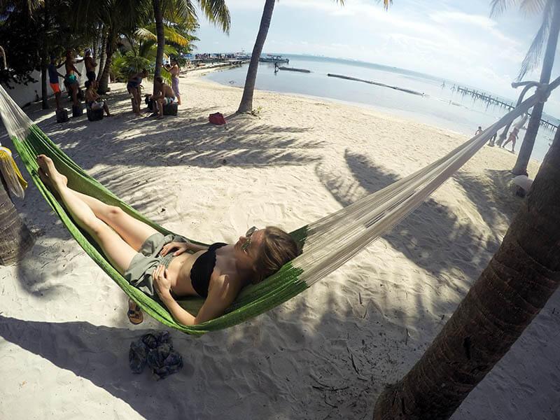 Odpoczynek w hamaku - isla mujeres- Meksyk
