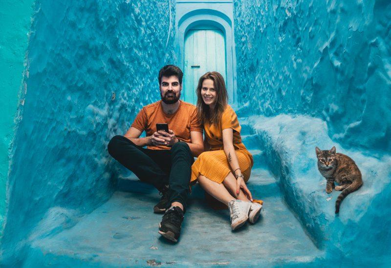 niebieskie miasto Maroko
