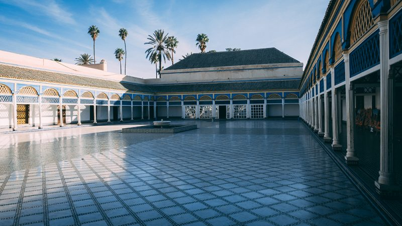 Bahia Palace w Marrakeszu - maroko