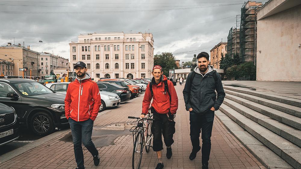spacer z Krzysztofem po Petersurgu