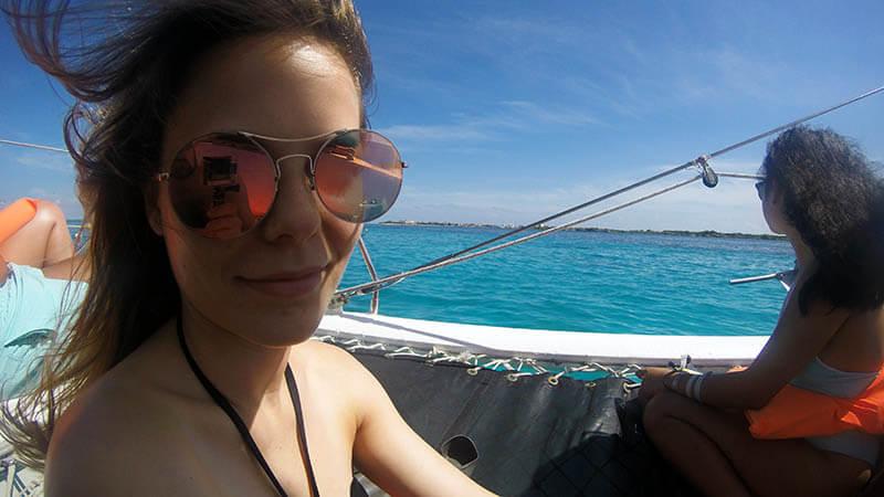bober na statku - rejs katamaranem na isla mujeres
