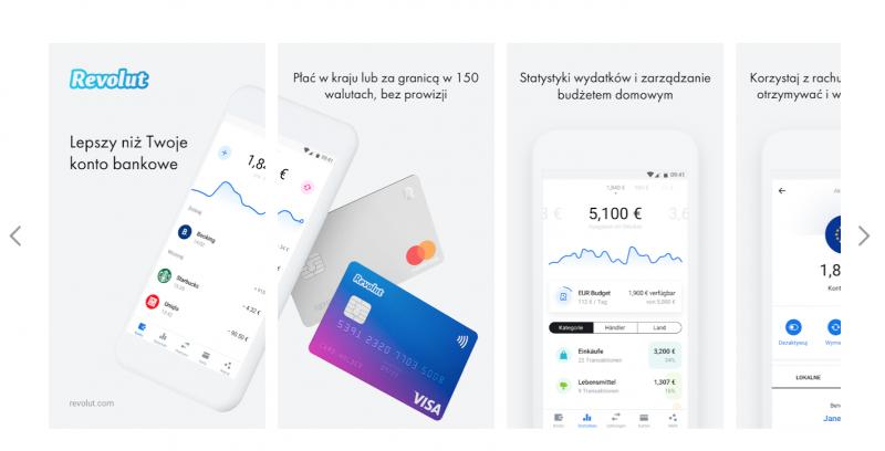 aplikacja walutowa revolut