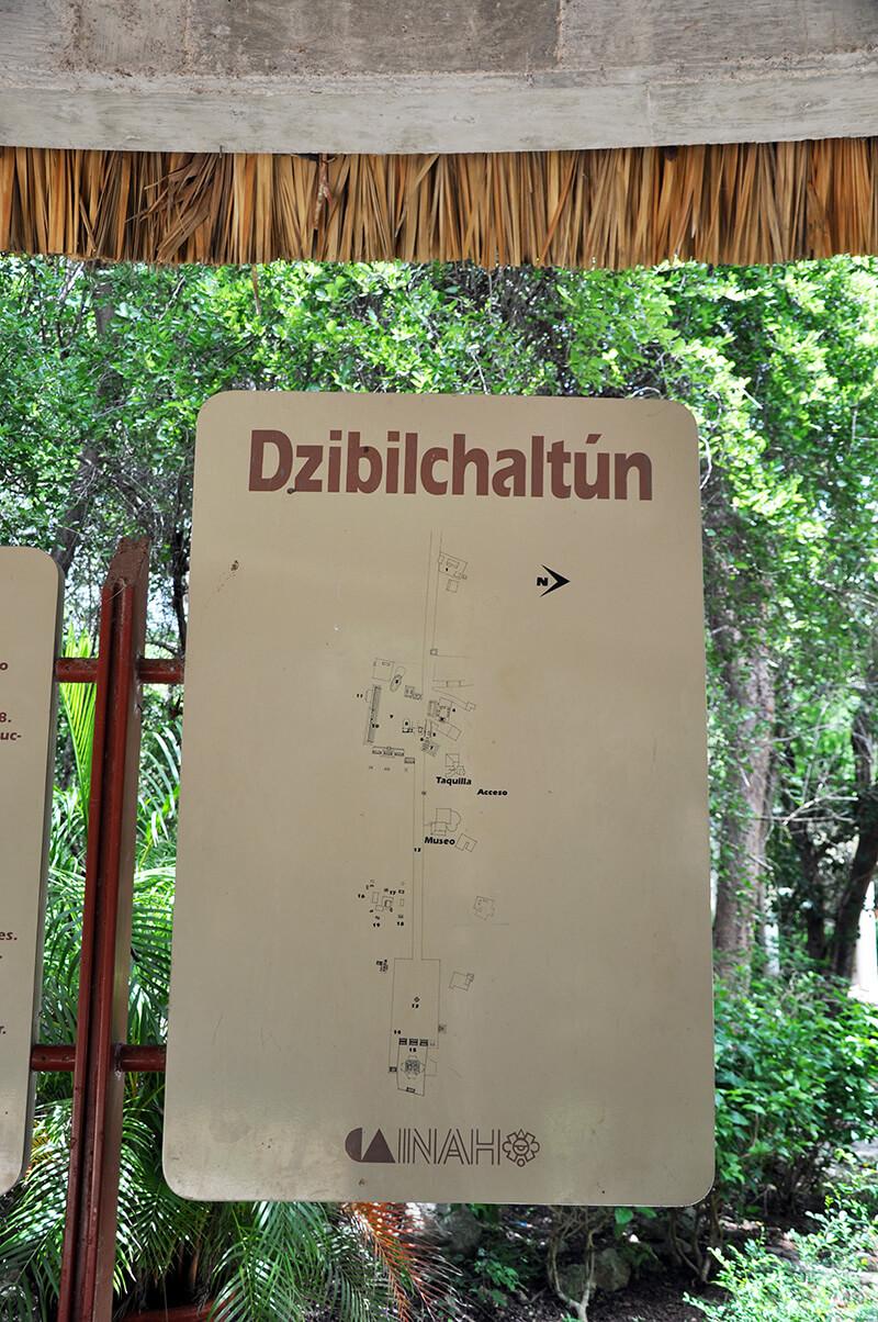Ruiny Majów Dzibilichaltun - meksyk atrakcje - mapa