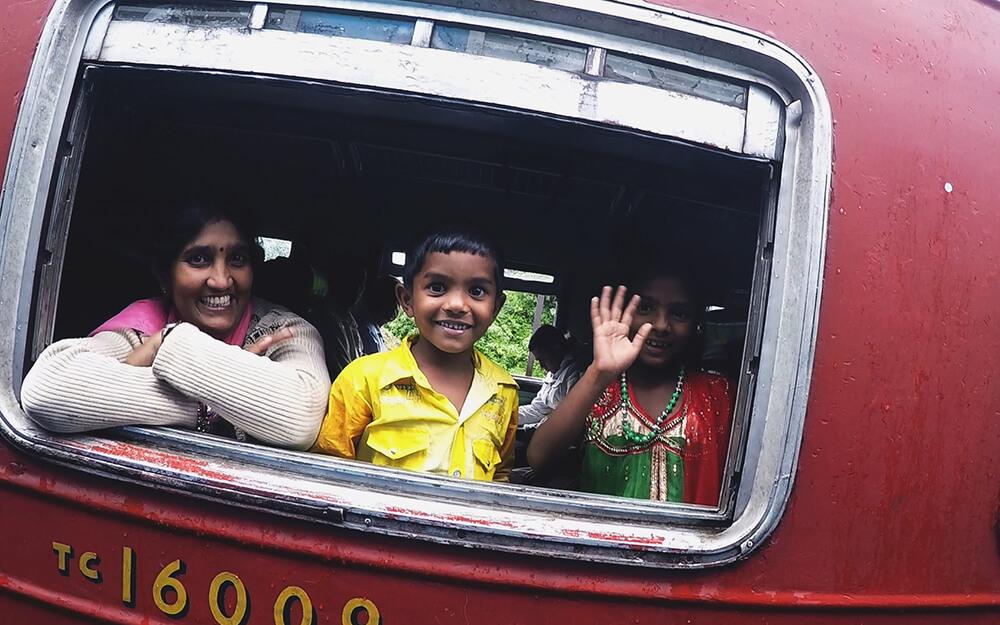 Sri Lanka - miejski pociąg