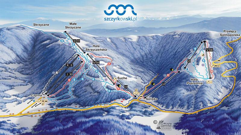 Szczyrkowski - trasy narciarskie