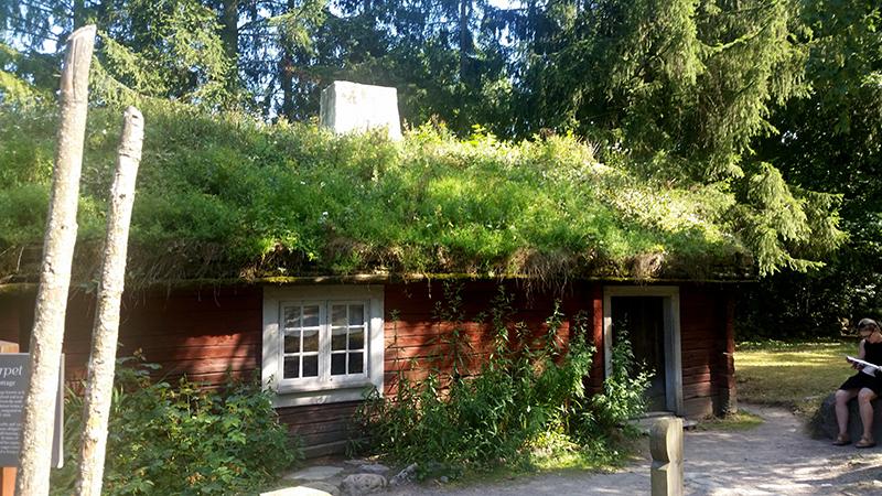 Sztokholm Skansen - chatka leśniczego wywczas