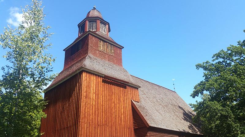 Sztokholm Skansen - kościół