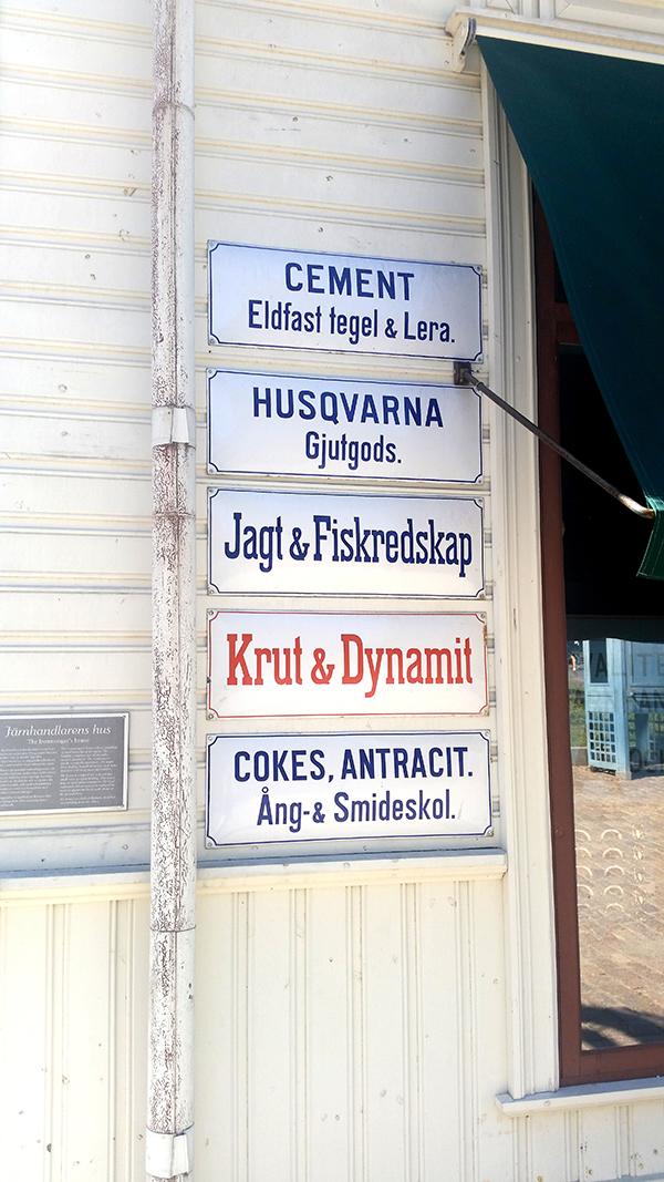Sztokholm Skansen znaki