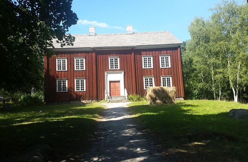 Sztokholm Skansen stary dom - wywczas