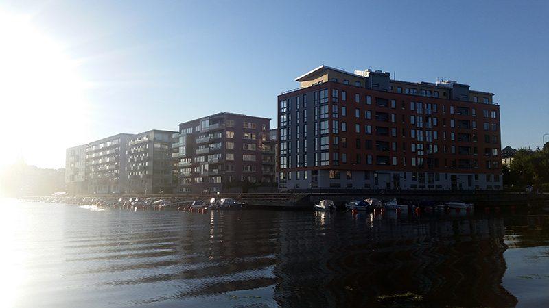 Sztokholm bloki na wodzie