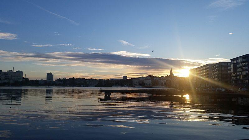 Sztokholm o zachodzie słońca