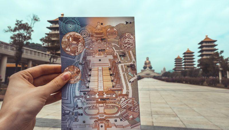Fo Guang Shan - mapa kompleksu