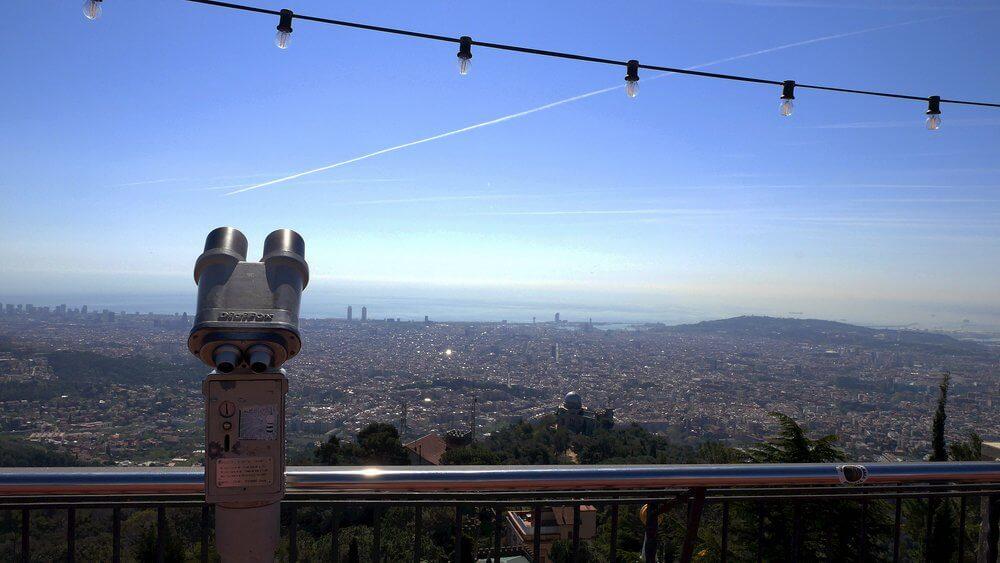 Tibidabo-widok-na-Barcelona