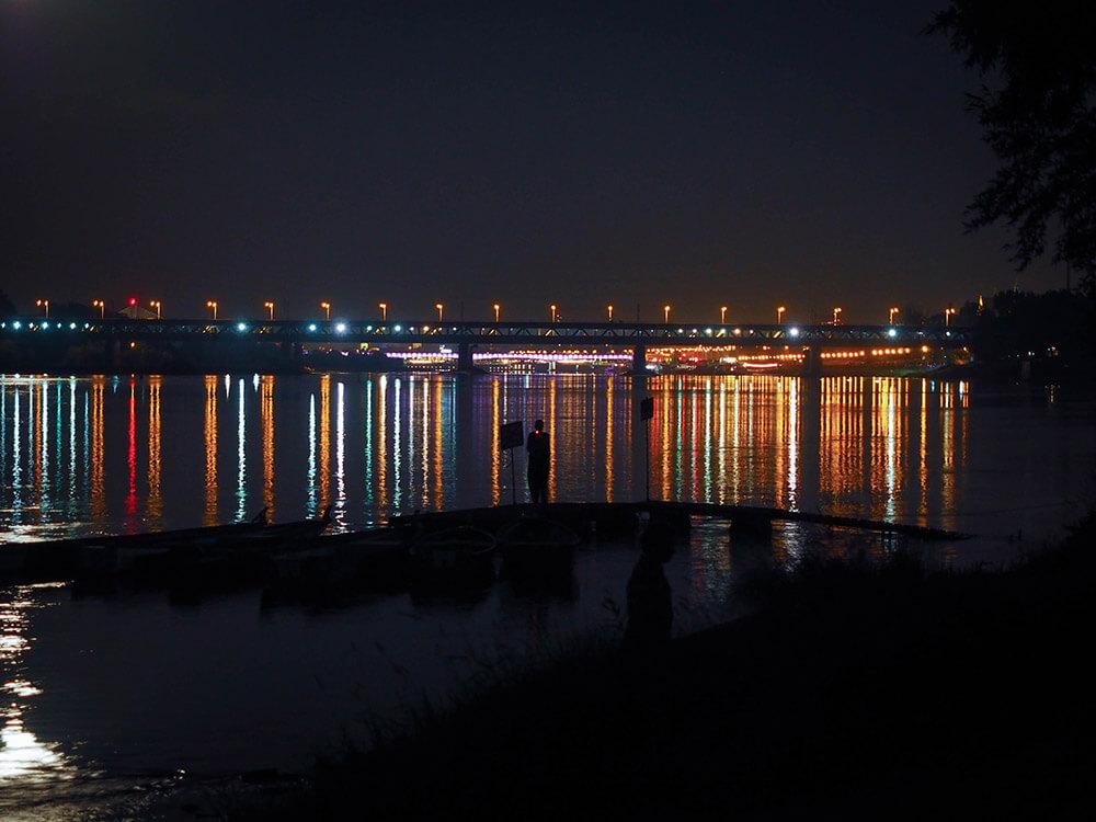 Warszawa nocą - Wisła