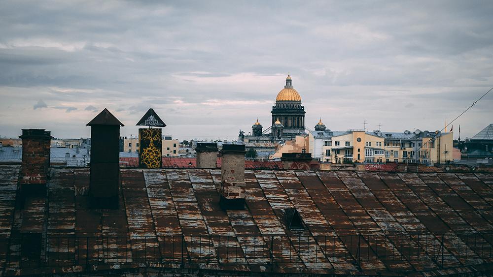 Widok na Katedre Petersburg