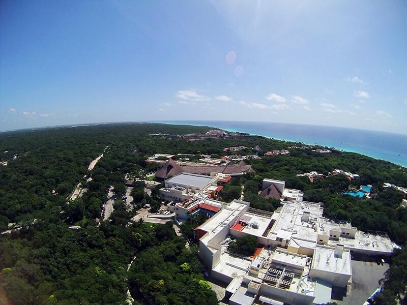Widok na Park Xcaret z góry