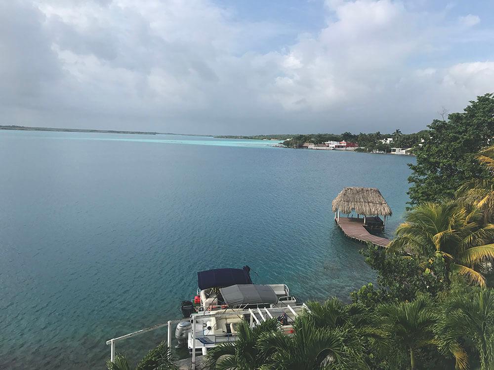 bacalar - widoki na lagunę