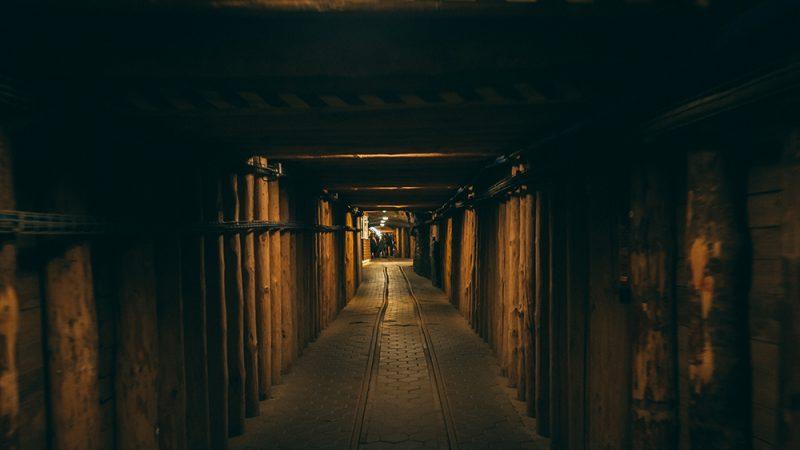 korytarze w kopalni soli w wieliczce