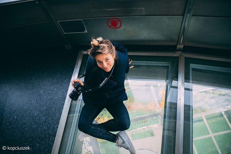 szklana podłoga na szczycie wieży TV Moskwa
