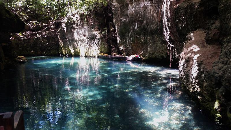Spływ kanionem w parku Xcaret - Meksyk