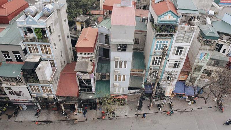 wysokie domu w wietnamie
