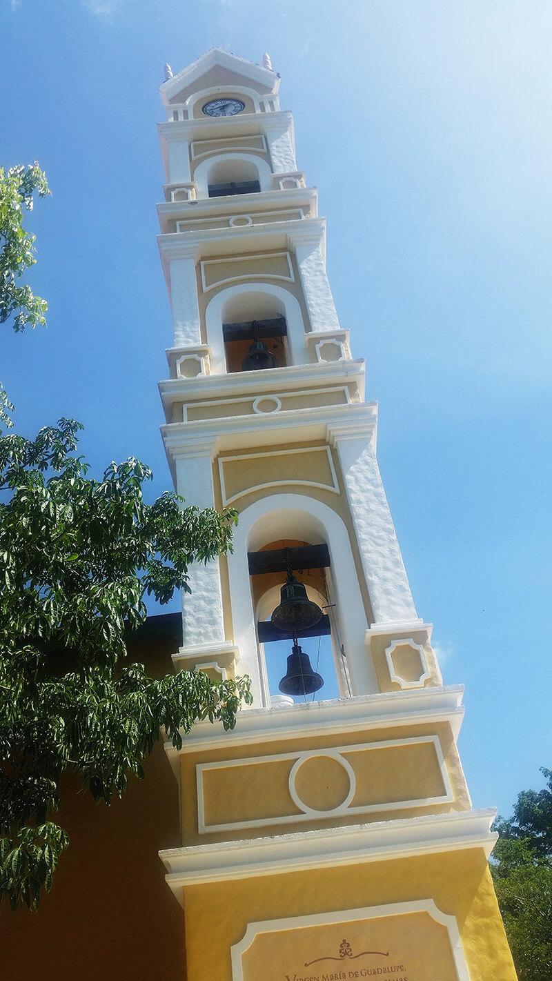 wieża kościoła w Xcaret