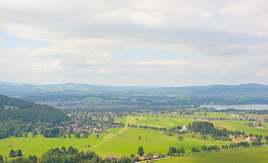 Zamek Neuschwanstein-widok z tarasu