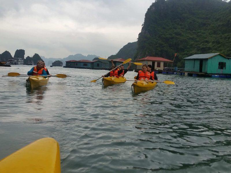 Zatoka Ha Long pływające domy
